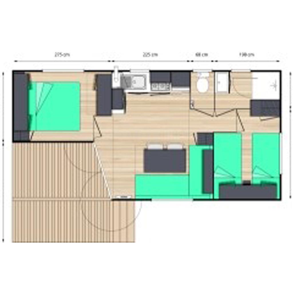 DE – Hébergements > Mobil-homes > Cottage 32 m2 2 chambres